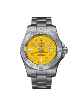 Breitling Avenger II Seawolf Yellow Dial Mens Watch Fake