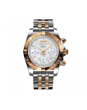 Breitling Chronomat 41 Silver Mens Watch Replica