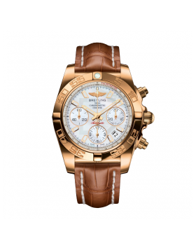 Breitling Chronomat 41 Silver Dial Mens Watch Replica