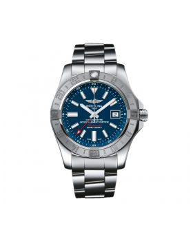 Breitling Avenger II GMT Blue Dial Mens Watch Fake