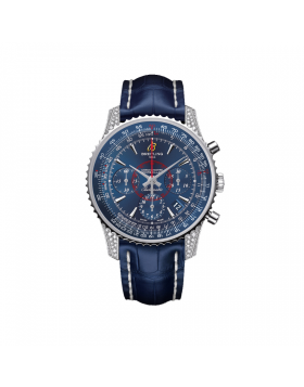 Popular Replica Breitling Montbrillant 01 Diamondworks Blue Alligator Leather Mens Watch AB013067/C894/718P/A18BA.1