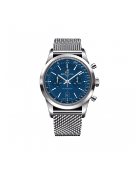 Popular Replica Breitling Transocean Chronograph 38 Blue Dial Watch A4131012/C862/171A