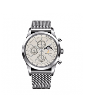 Popular Replica Breitling Transocean Chronograph 1461 Mens Watch Silver Dial A1931012/G750/154A