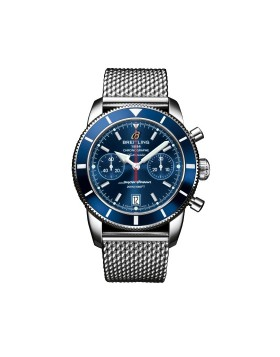 Breitling Superocean Heritage Chronograph 44 Blue Dial Mens Watch Replica
