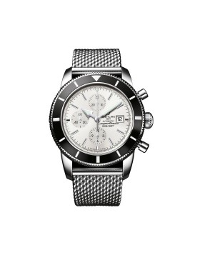 Breitling Superocean Heritage 46 Chronograph Silver Dial Mens Watch Replica