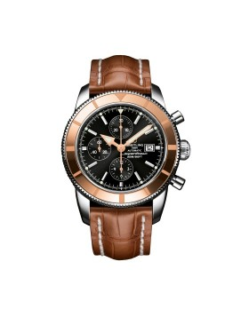 Breitling Superocean Heritage Chronograph 46 Black Dial Mens Watch Replica