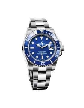 Rolex Submariner Date White Gold Mens Watch Replica