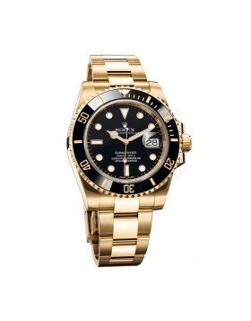 Rolex Submariner Date Yellow Gold Mens Watch Replica