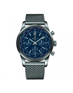 Breitling Transocean Unitime Pilot Night Blue Dial Mens Watch Fake