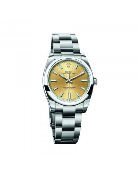 Rolex Oyster Perpetual 34 Champagne Mixed Watch Replica