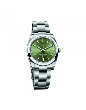 Rolex Oyster Perpetual 34 Olive Green Mixed Watch Replica