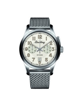 Popular Replica Breitling Transocean Chronograph 1915 Silver Dial Mens Watch AB141112/G799/154A