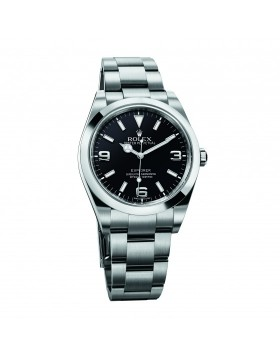 Rolex Explorer Black Dial Mens Watch Replica