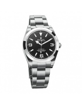 Rolex Explorer Black Mens Watch Replica