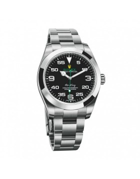 Rolex Air King Black Mens Watch Replica
