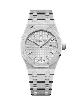 Replica Audemars Piguet Royal Oak Frosted Gold Quartz White gold 33mm Ladies Watch