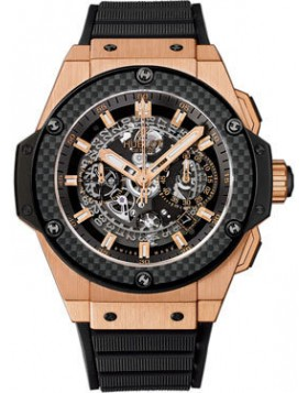 Fake Hublot King Power Unico King Gold Carbon Automatic Chronograph 701.OQ.0180.RX