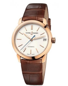 Fake Ulysse Nardin Classico Automatic Rose Gold Gold Dial Ladies Watch 8106-116-2/990
