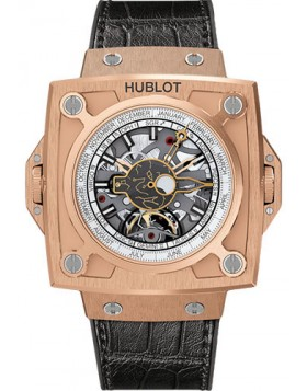Replica Hublot Masterpiece MP-08 Antikythera Sunmoon King Gold Mens Watch