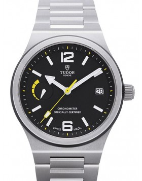 Tudor North Flag Black Dial Steel Strap Mens Watch Replica 91210N-1