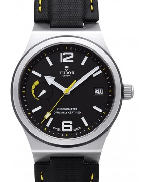 Tudor North Flag Black Dial Leather Strap Mens Watch Replica 91210N-2