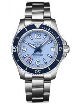 Fake Breitling Superocean Automatic 36 Steel Blue Dial Watch A17316D81C1A1