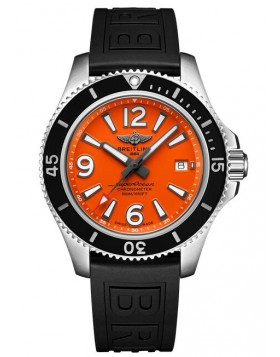 Fake Breitling Superocean Automatic 42 Steel Orange Watch A17366D71O1S1
