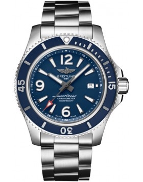 Fake Breitling Superocean Automatic 44 Steel Blue Mens Watch A17367D81C1A1