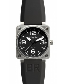 Replica Bell & Ross BR01-92 Automatic 46mm BR01-92 Steel Black Mens Watch