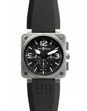 Replica Bell & Ross BR01-94 Chronograph 46mm BR01-94 Steel Black Mens Watch