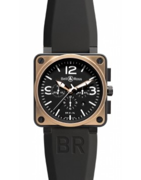 Replica Bell & Ross BR01-94 Chronograph 46mm BR01-94 Pink Gold Carbon Mens Watch
