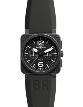 Bell & Ross BR03-94 Chronograph 42mm BR03-94 Carbon Mens Watch Replica