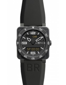 Replica Bell & Ross BR03 Type Aviation Quartz 42mm BR03 Type Aviation Carbon Mens Watch