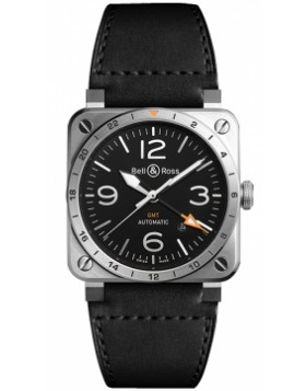 Replica Bell & Ross BR03 GMT 42mm BR0393-GMSTSCA Midsize Watch