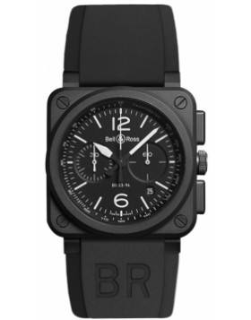 Bell & Ross BR03-94 Chronograph 42mm BR0394-BL-CE Mens Watch Replica