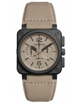 Bell & Ross BR03-94 Chronograph 42mm BR0394-DESERT-CE Mens Watch Replica