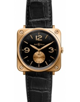 Bell & Ross BR-S Mechanical Gold 39mm BRS Pink Gold Black Mens Watch Replica