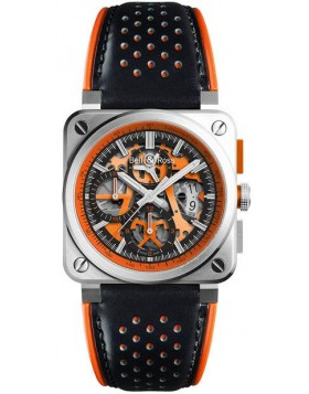 Bell & Ross Aviation Mens Watch BR 03-94 Aero GT Orange Fake