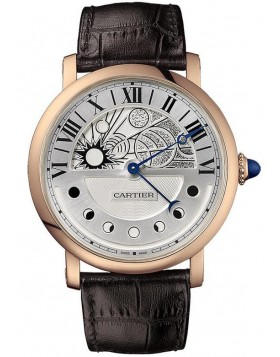 Replica Cartier Rotonde de Cartier Day and Night Pink Gold Mens Watch