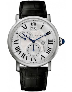Replica Cartier Rotonde Second Time Zone Day/Night Steel Mens Watch