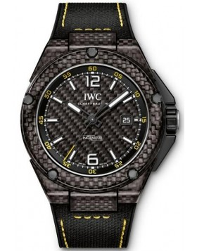 Replica IWC Ingenieur Automatic Carbon Performance Black Strap Mens Watch