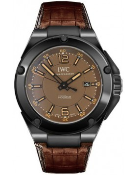 Replica IWC Ingenieur Automatic AMG Black Ceramic Brown Dial Mens Watch