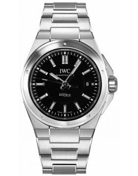 Replica IWC Ingenieur Black Dial Stainless Steel Automatic Mens Watch