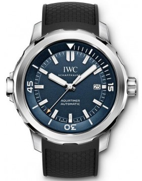 Replica IWC Aquatimer Automatic Expedition Jacques-Yves Cousteau Blue Dial Mens Watch