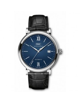 Fake IWC Portofino Automatic Edition 150 Years Blue Dial IW356518