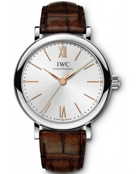 Fake IWC Portofino Automatic 34 Silver Dial Watch IW357403