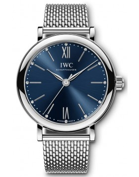 Fake IWC Portofino Automatic 34 Blue Dial Watch IW357404