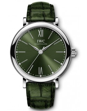 Fake IWC Portofino Automatic 34 Green Dial Watch IW357405