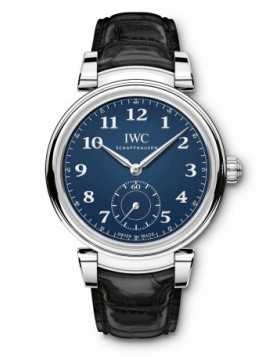 Fake IWC Da Vinci Automatic Edition 150 Years Blue Dial IW358102