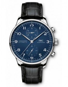 Fake IWC Portugieser Chronograph Edition 150 Years Watch Blue Dial IW371601